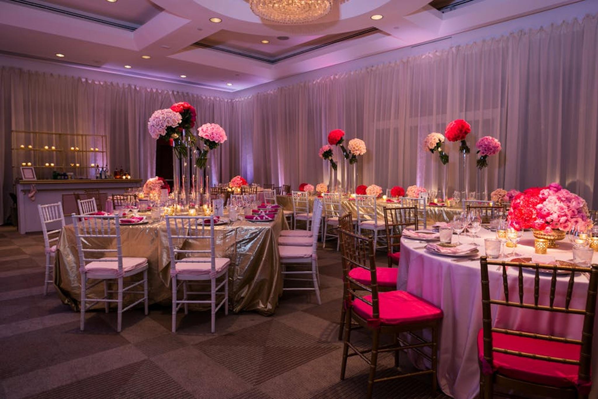 ombre pink decor for party at park hyatt washington d.c.