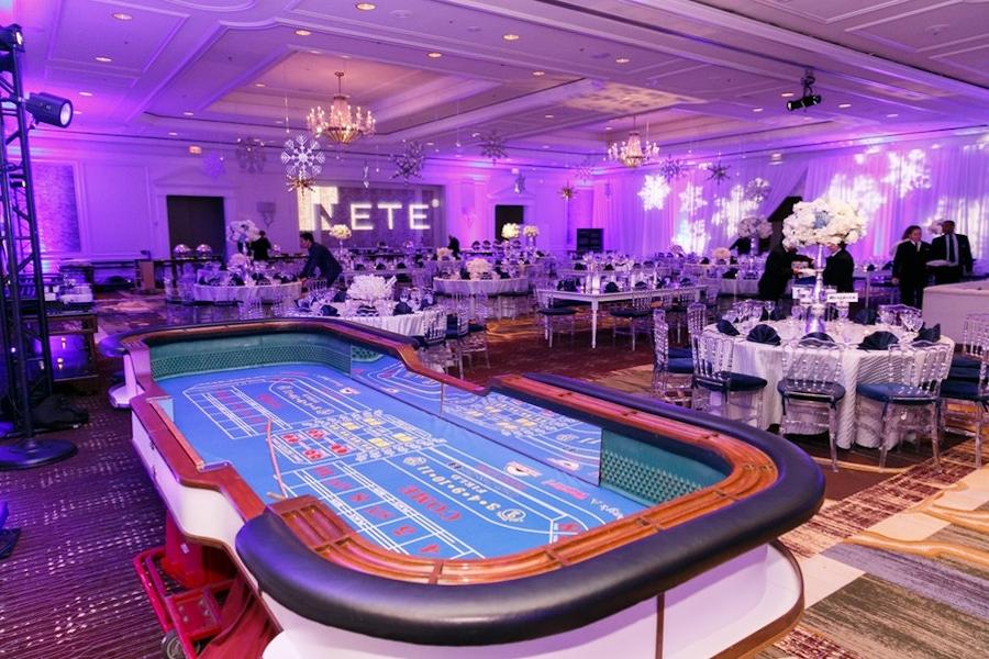 Poker party entertainment at The Ritz-Carlton
