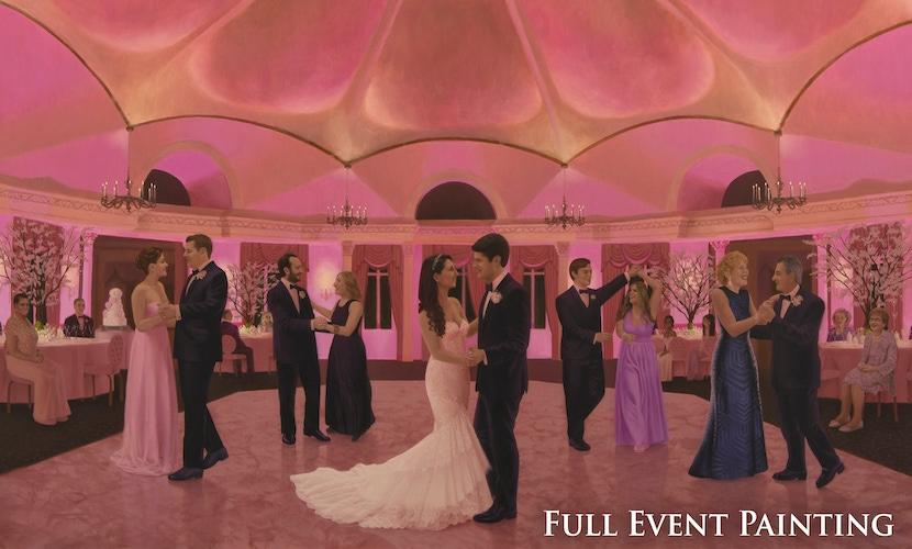 live wedding painting dance floor