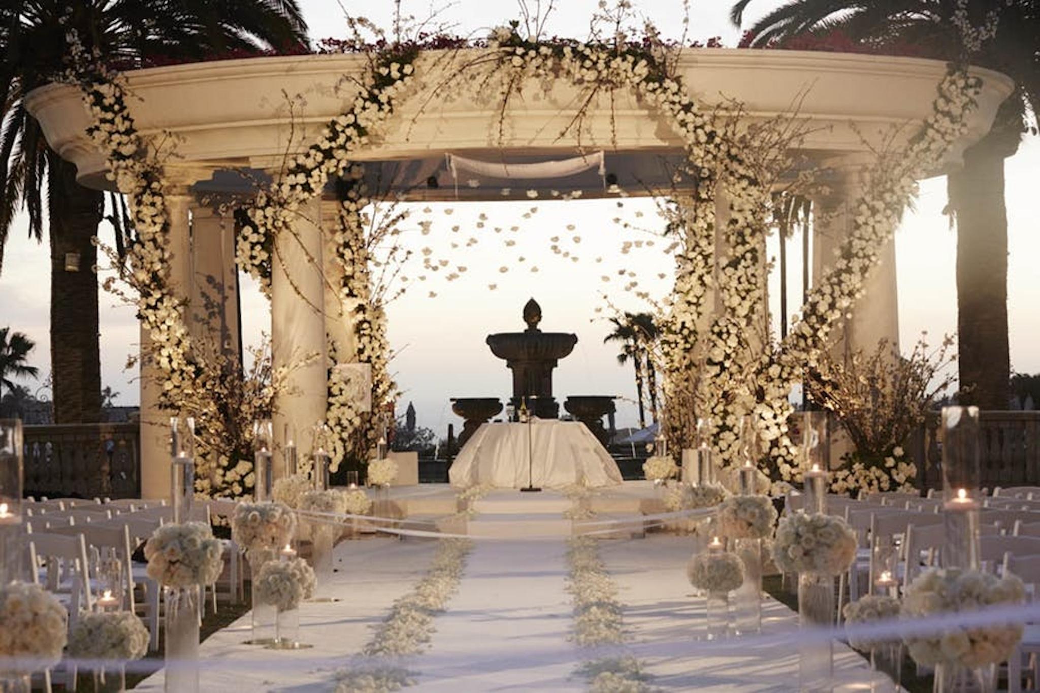 Outdoor wedding venue at The Monarch Beach Resort