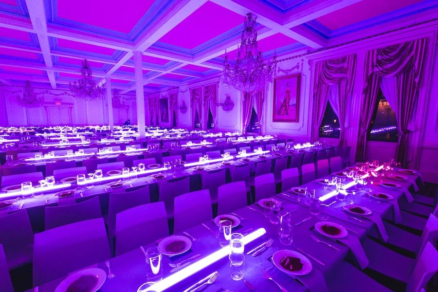 purple lit room