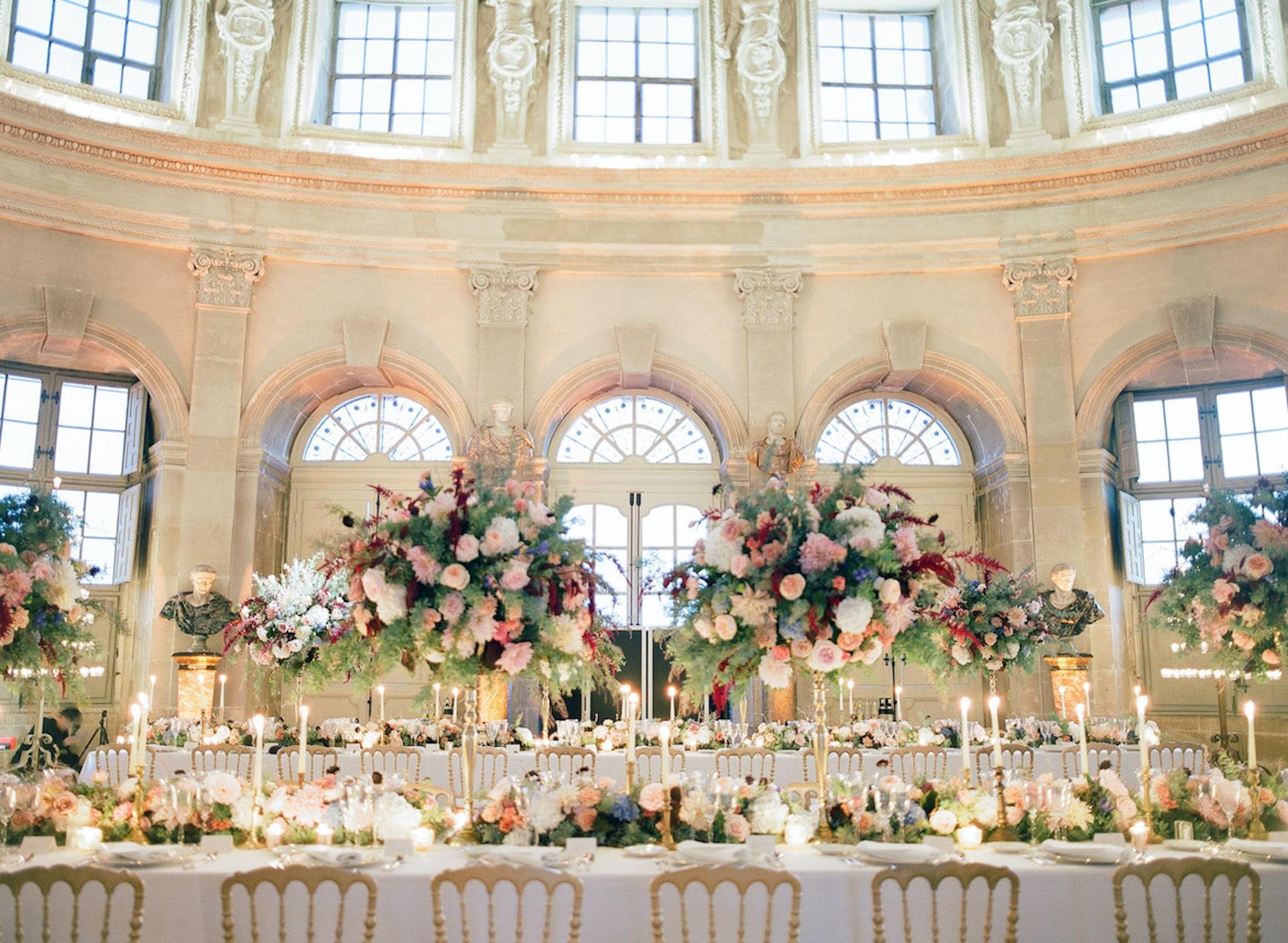 Vaux le Vicomte wedding reception