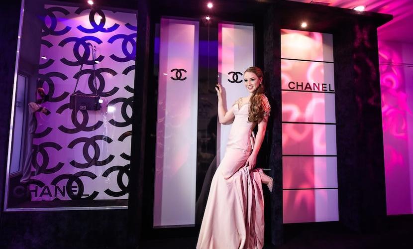 Chanel decorated doors
