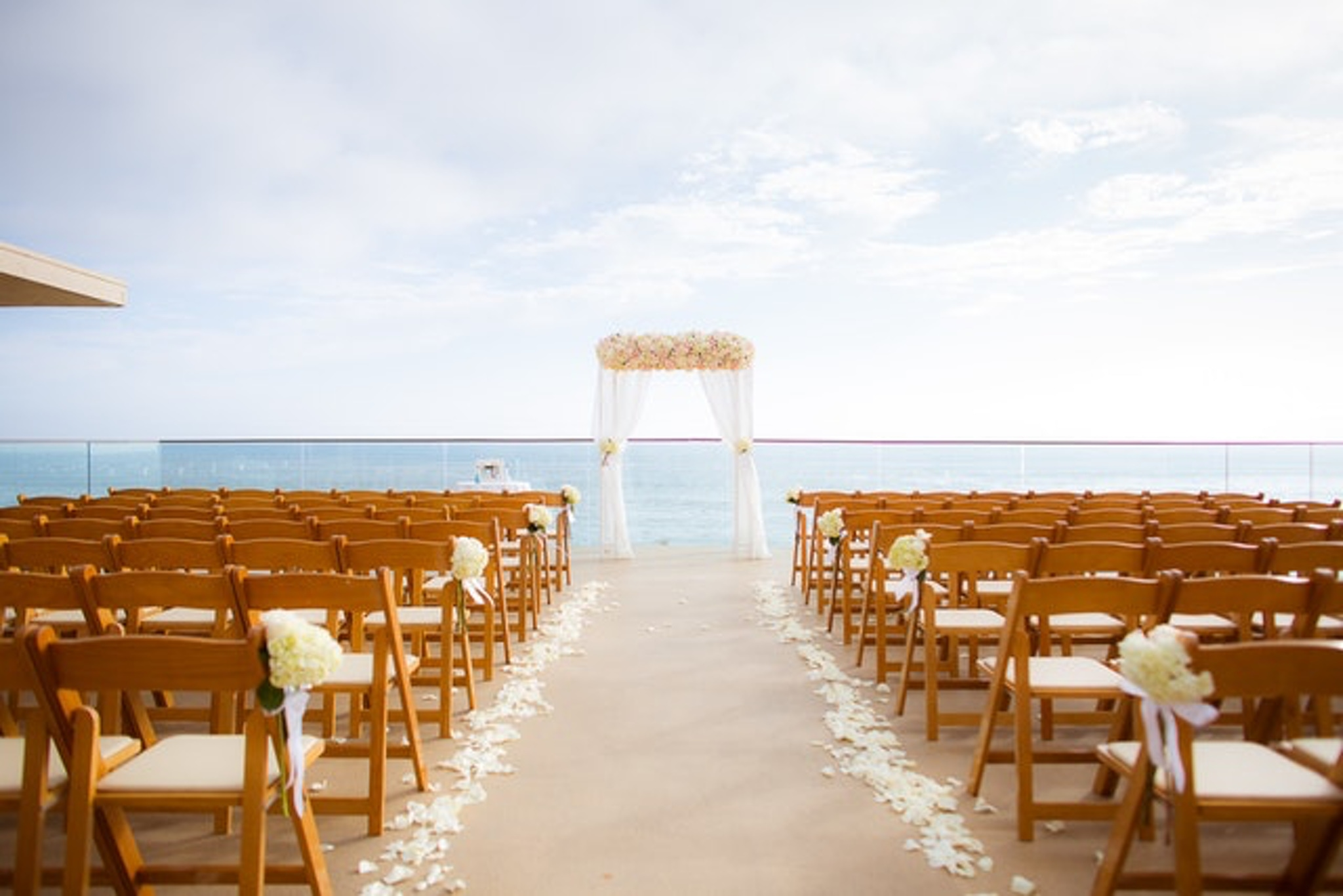 Outdoor wedding venue at Surf and Sand Resort