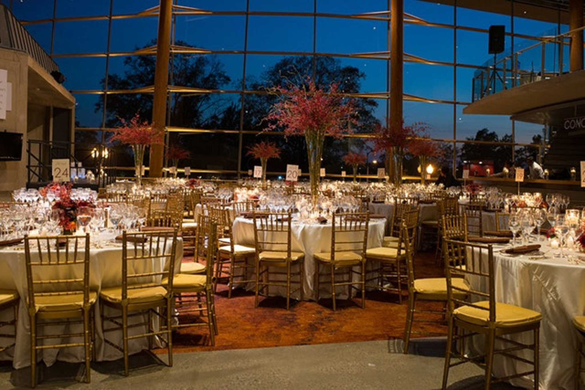 tall windows form walls at the arena stage at the mead center landmark event venue in washington, d.c.