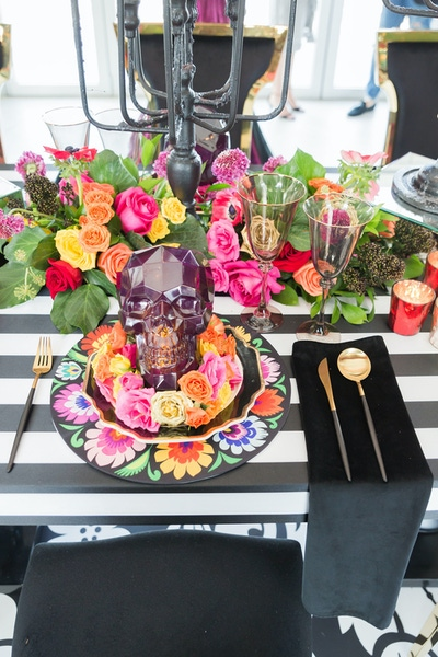 Day of the dead themed party