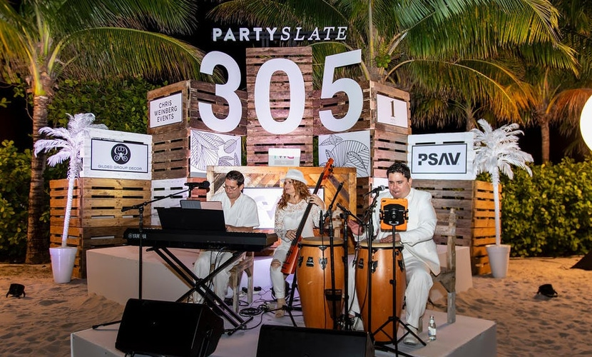 Band at PartySlate's Miami launch party