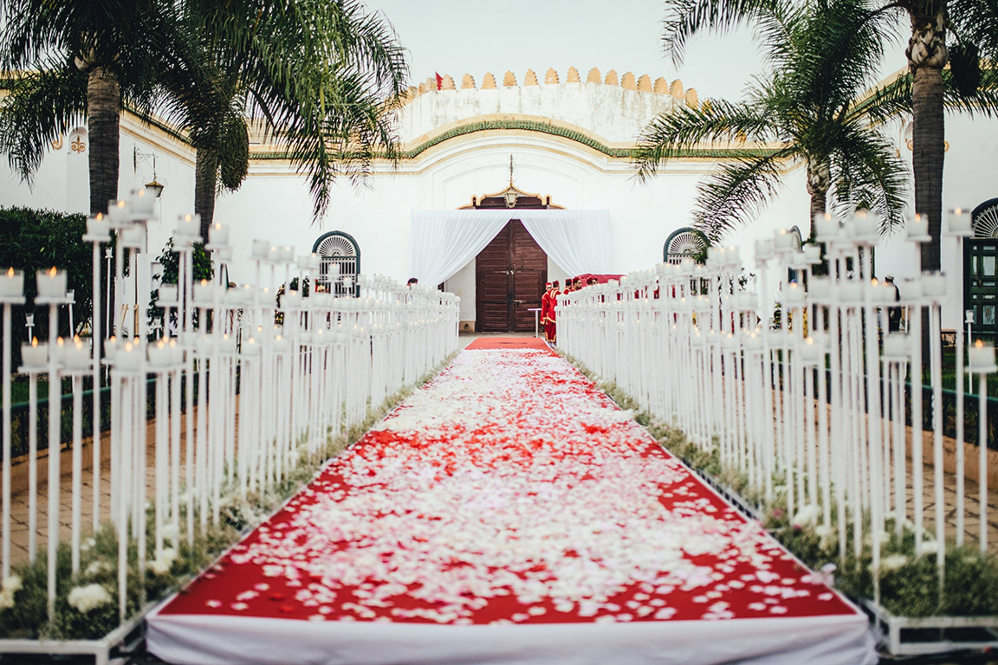 Moroccan Theme Wedding Aisle