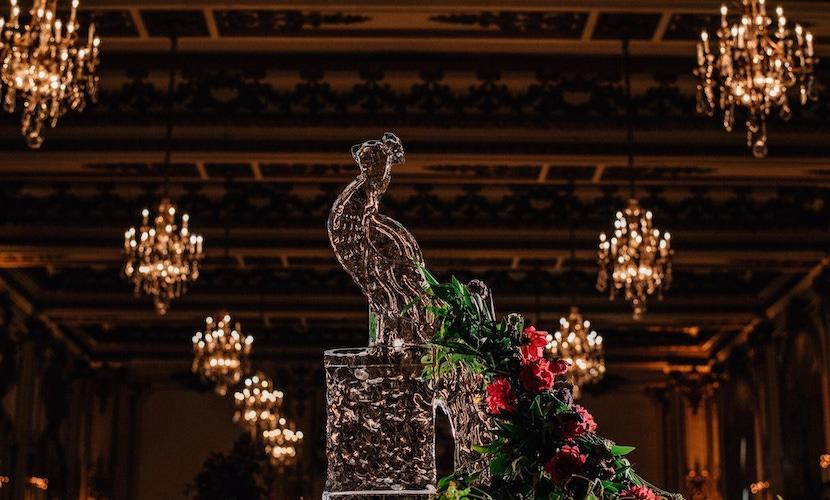 ice sculpture centerpiece