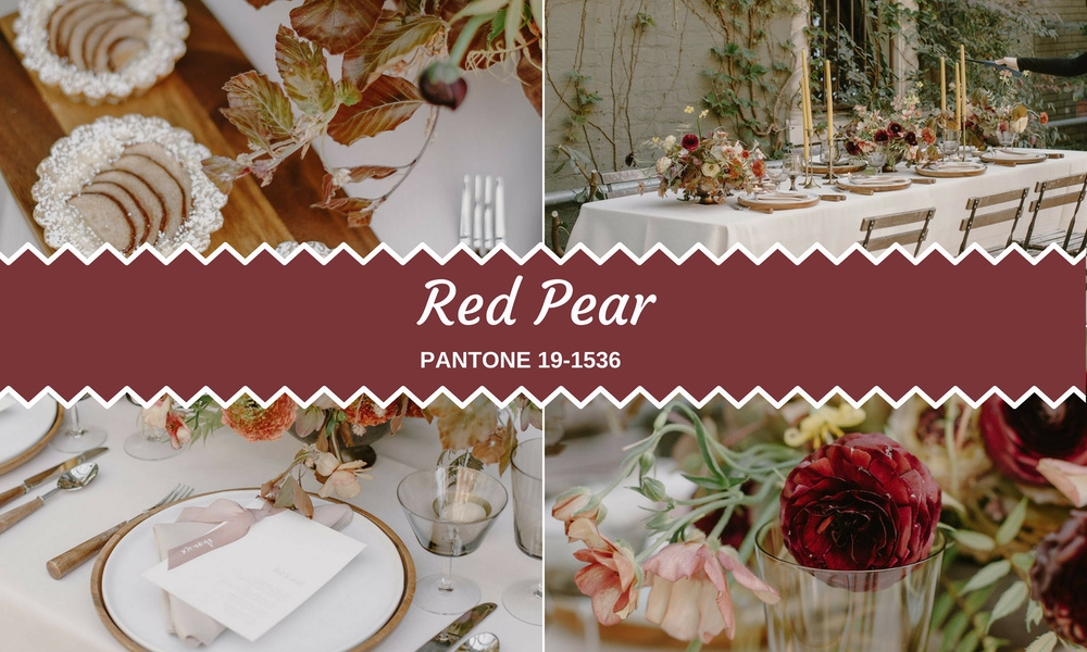 Red pear accents