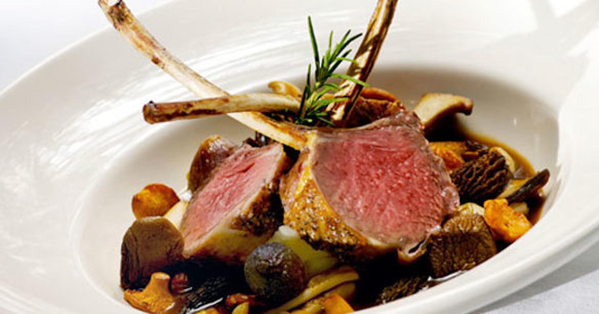 lamb chop plating presentation
