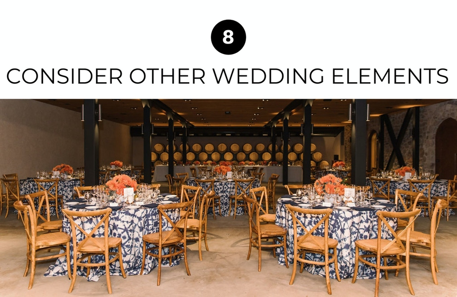 wedding tables and elements