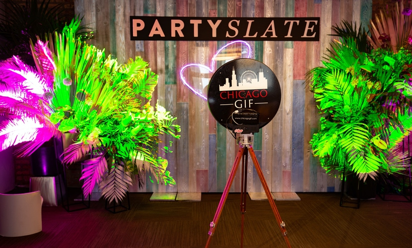 PartySlate sign at the PartySlate spring event