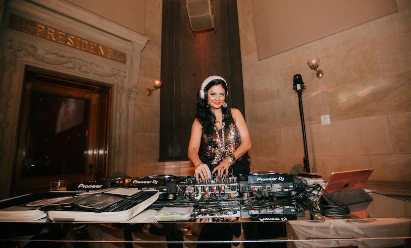 DJ at Vera Wang event