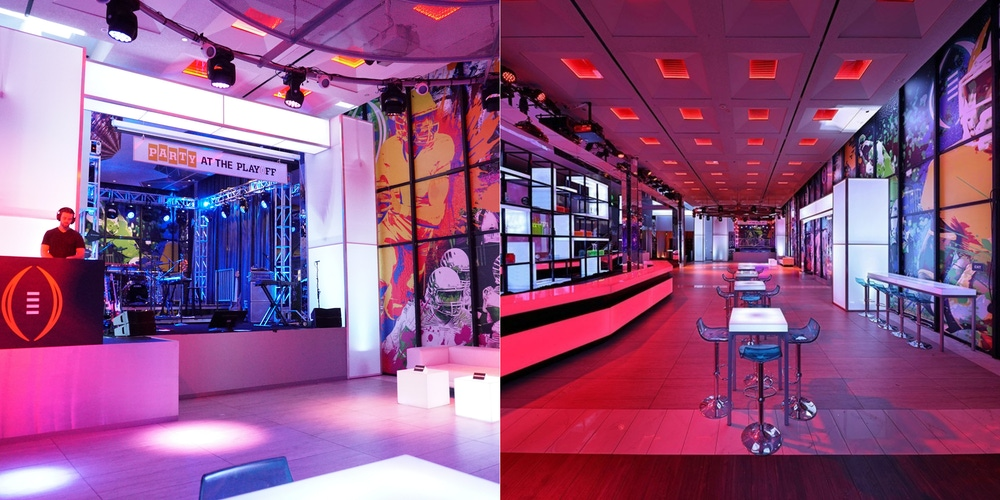 Fun, bright and colorful venue with neon lighting