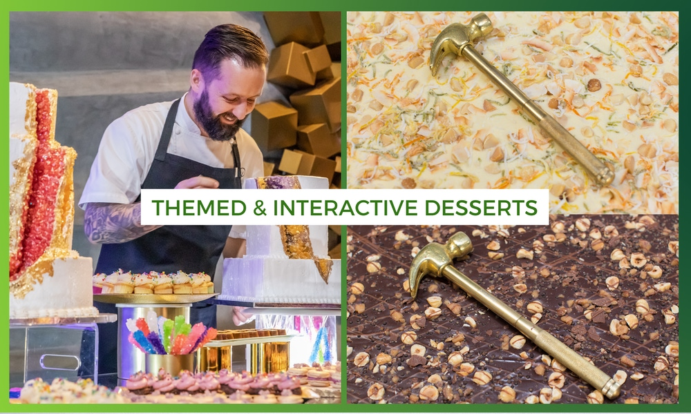 Interactive delicious chocolate desserts at wedding