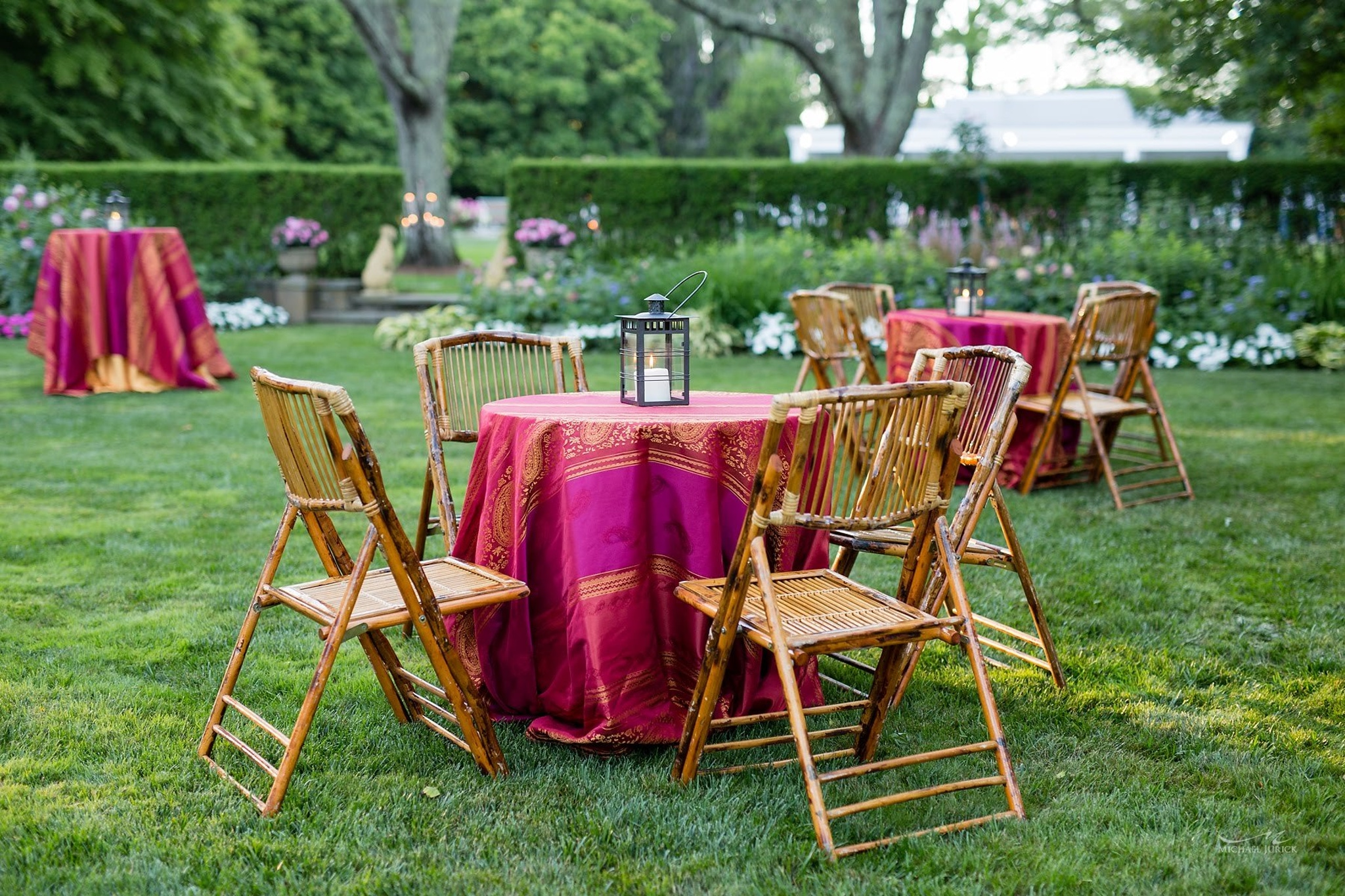 boho-chic tables outdoors