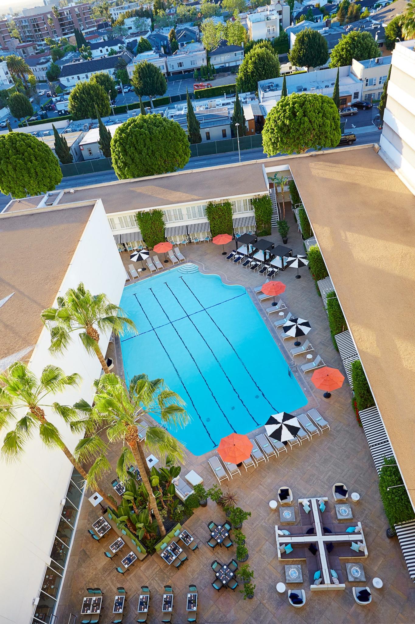 The Aqua Star Pool, The Beverly Hilton