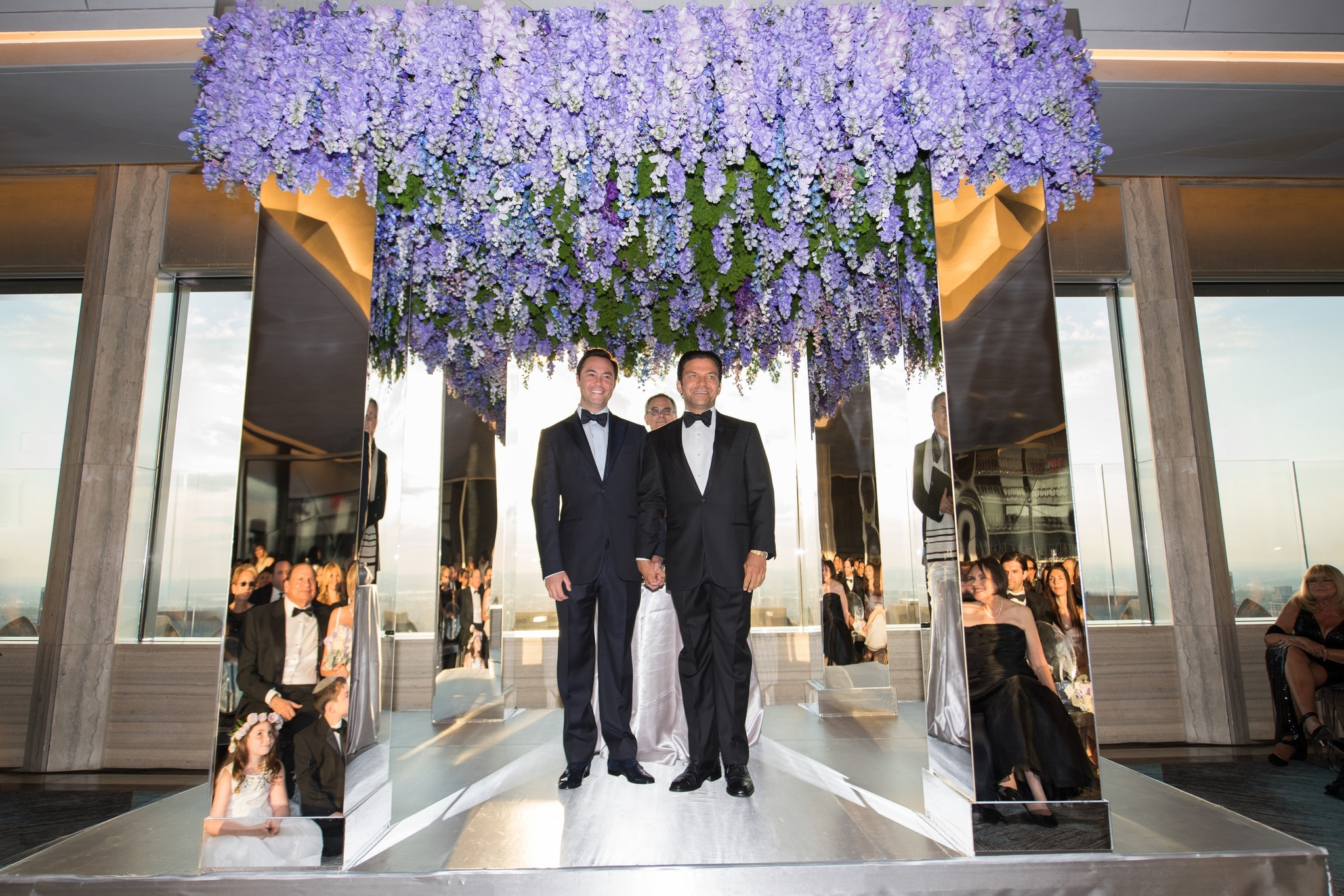 Purple floral wedding alter