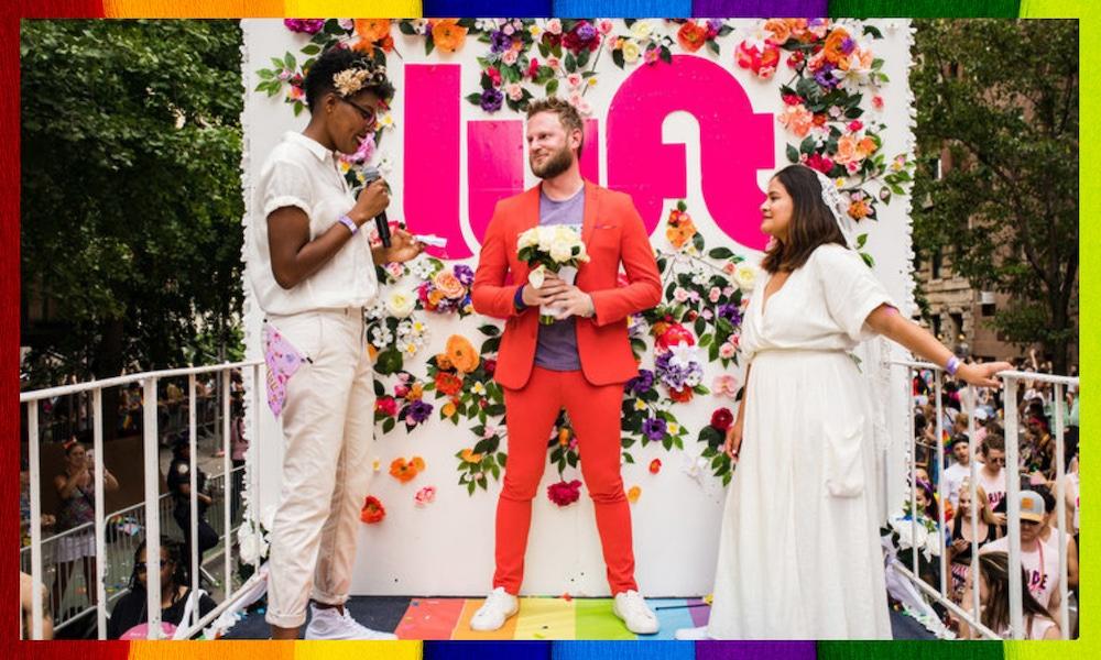 Lyft rainbow celebration