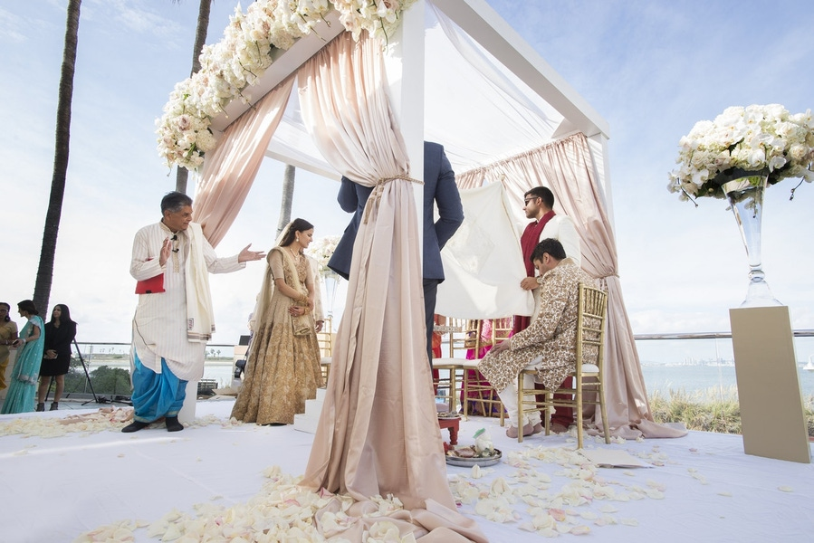 Nahid's Global Events draped wedding alter