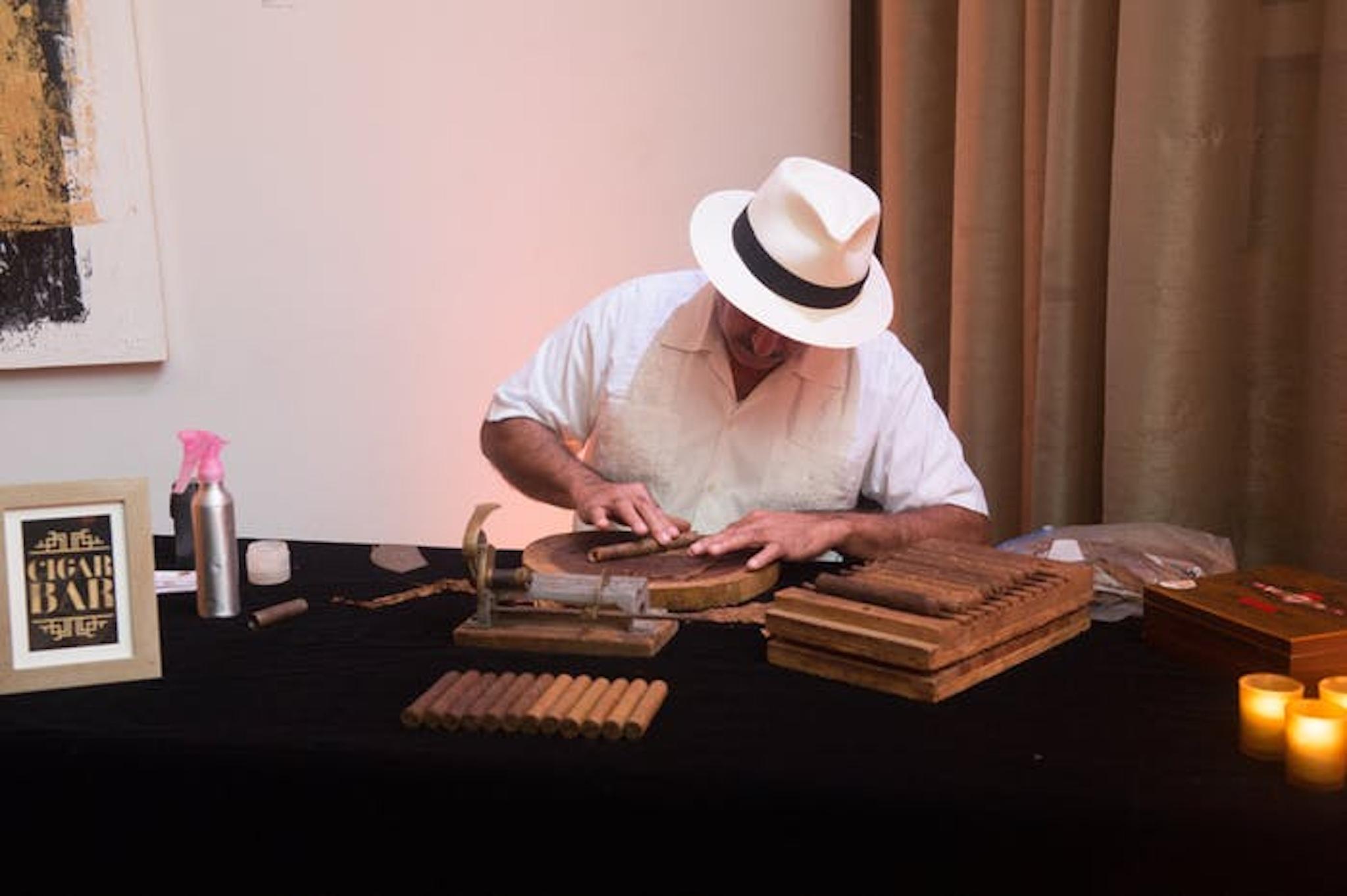 cigar roller party entertainment