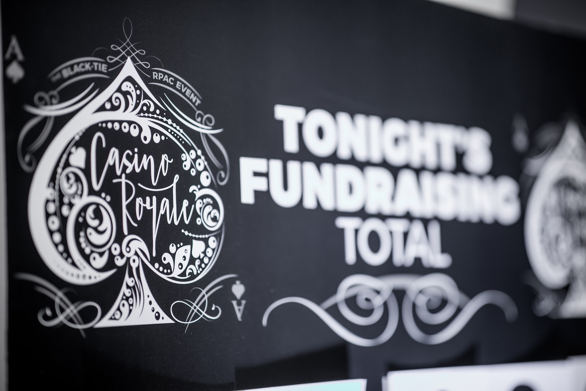 Fundraising sign