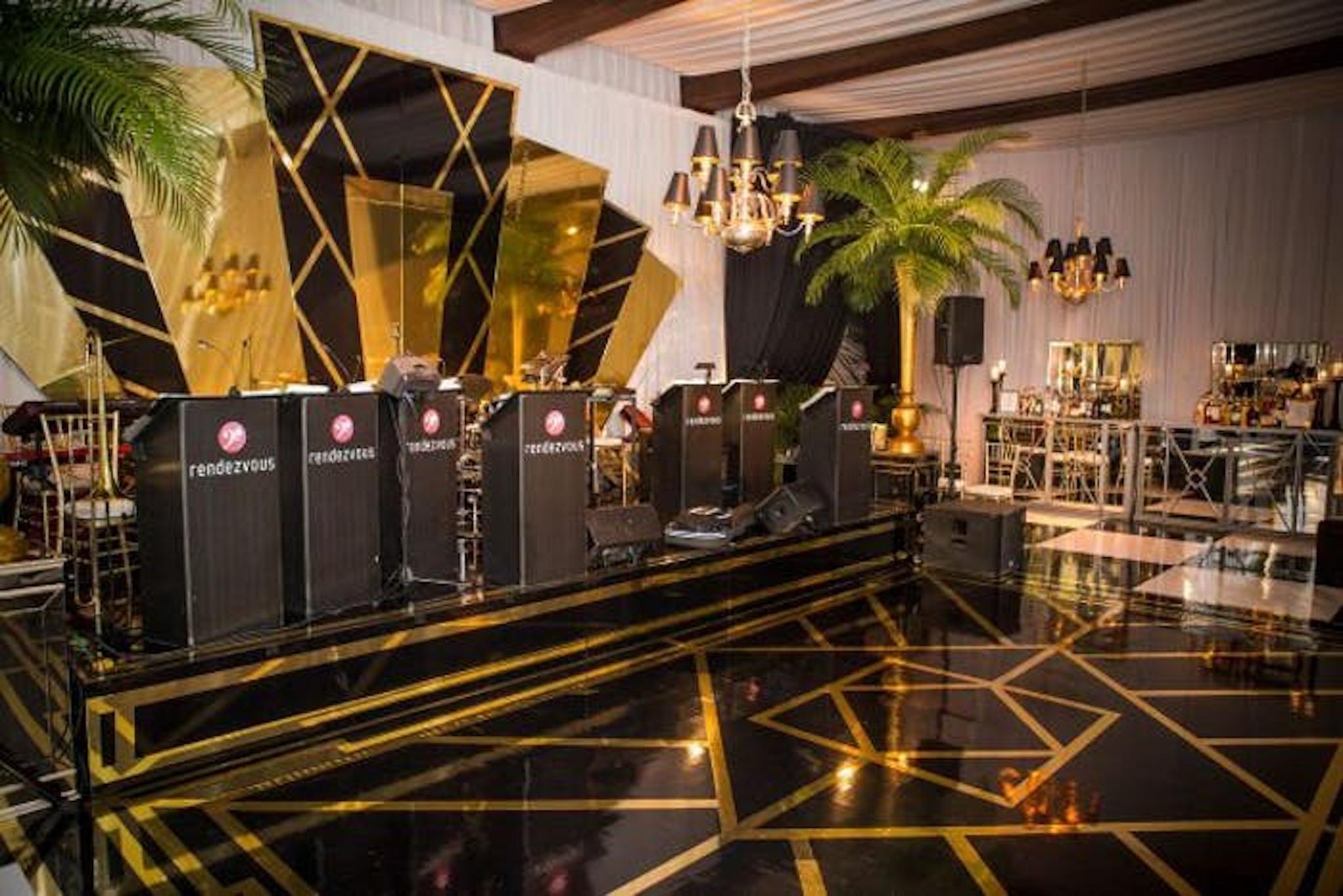 Gold and black decor