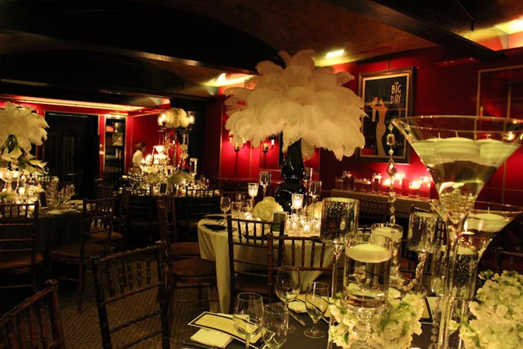 Gatsby themed party decor