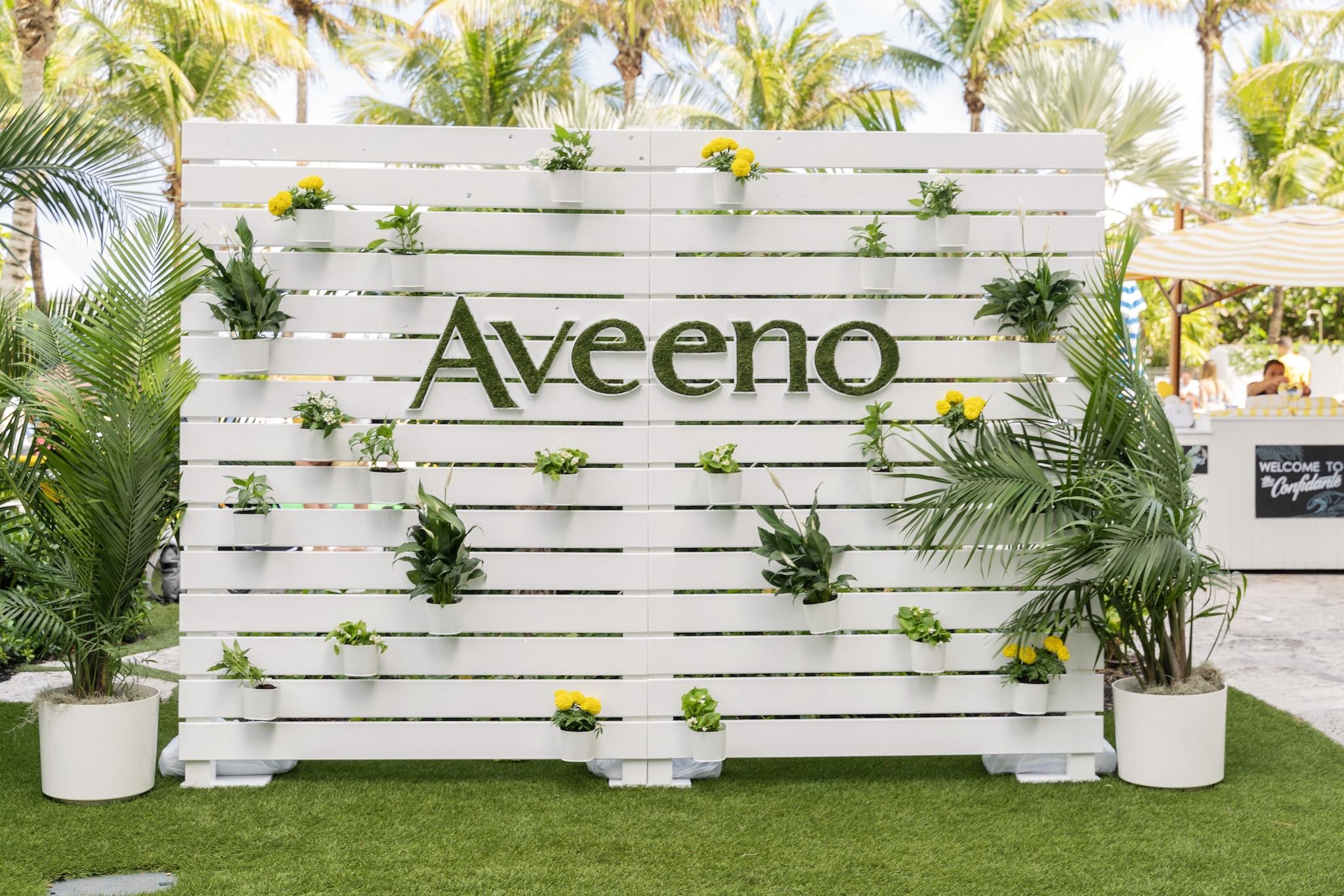 Aveeno brand backdrop
