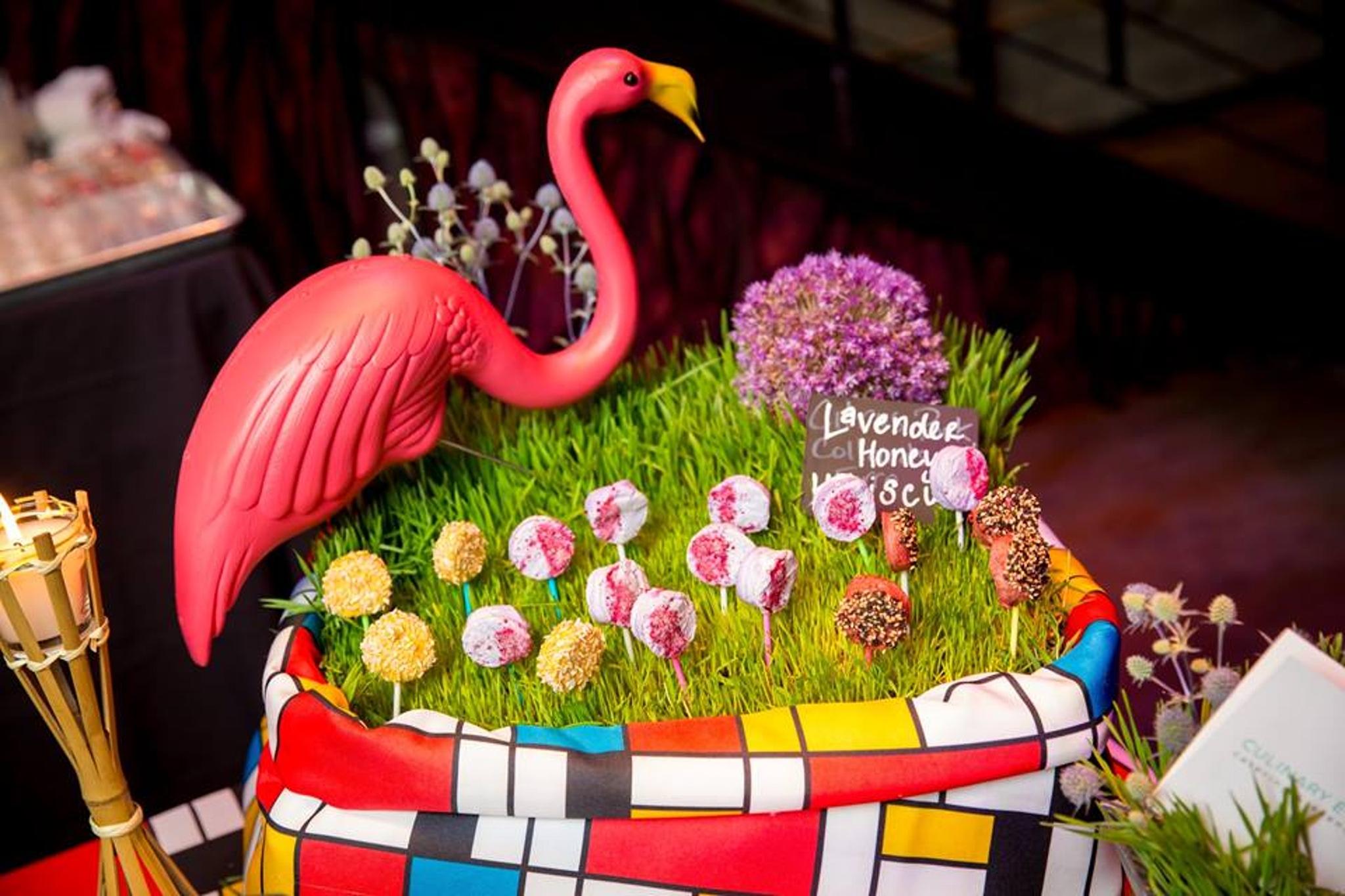 flamingo decorated food