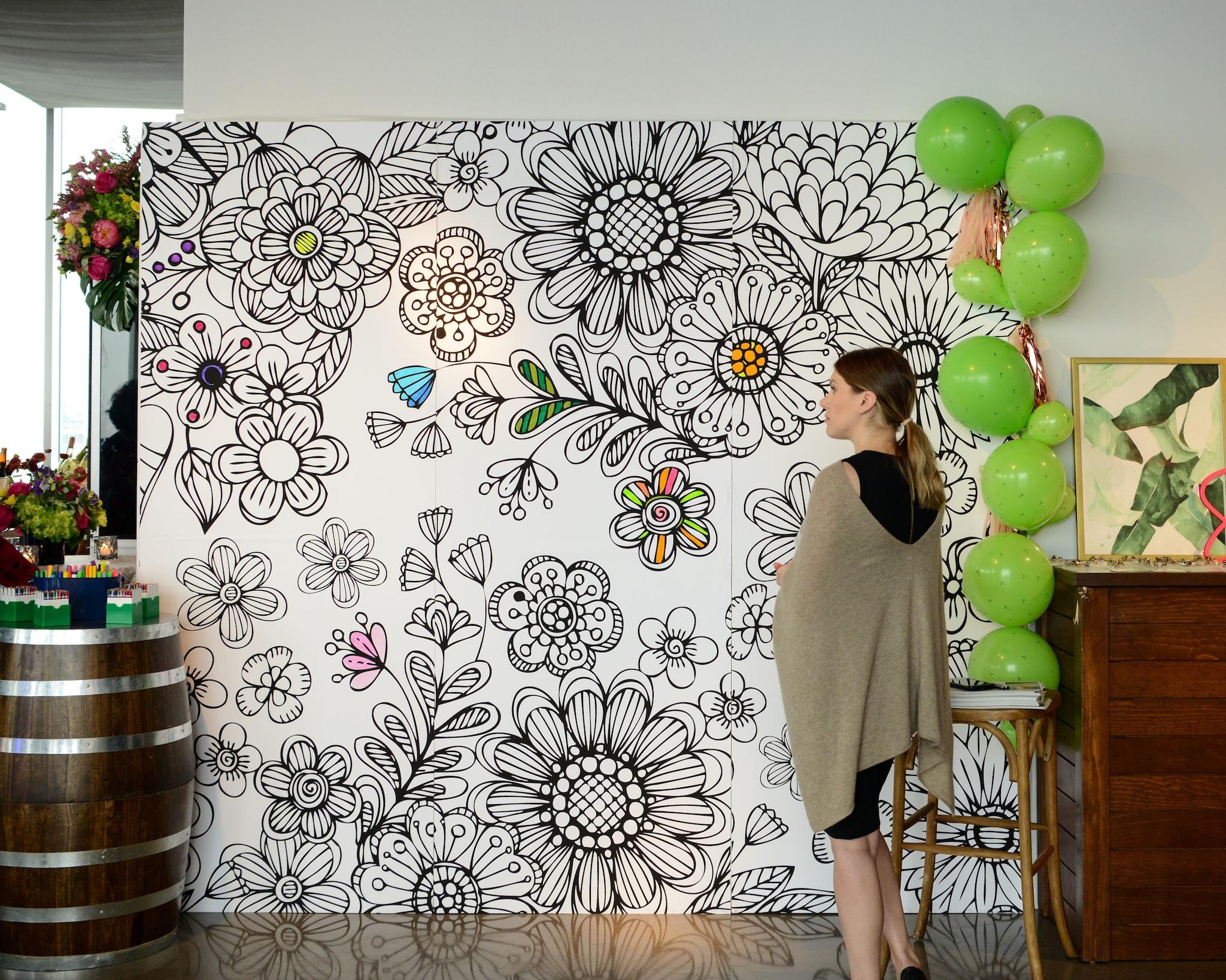 interactive coloring wall