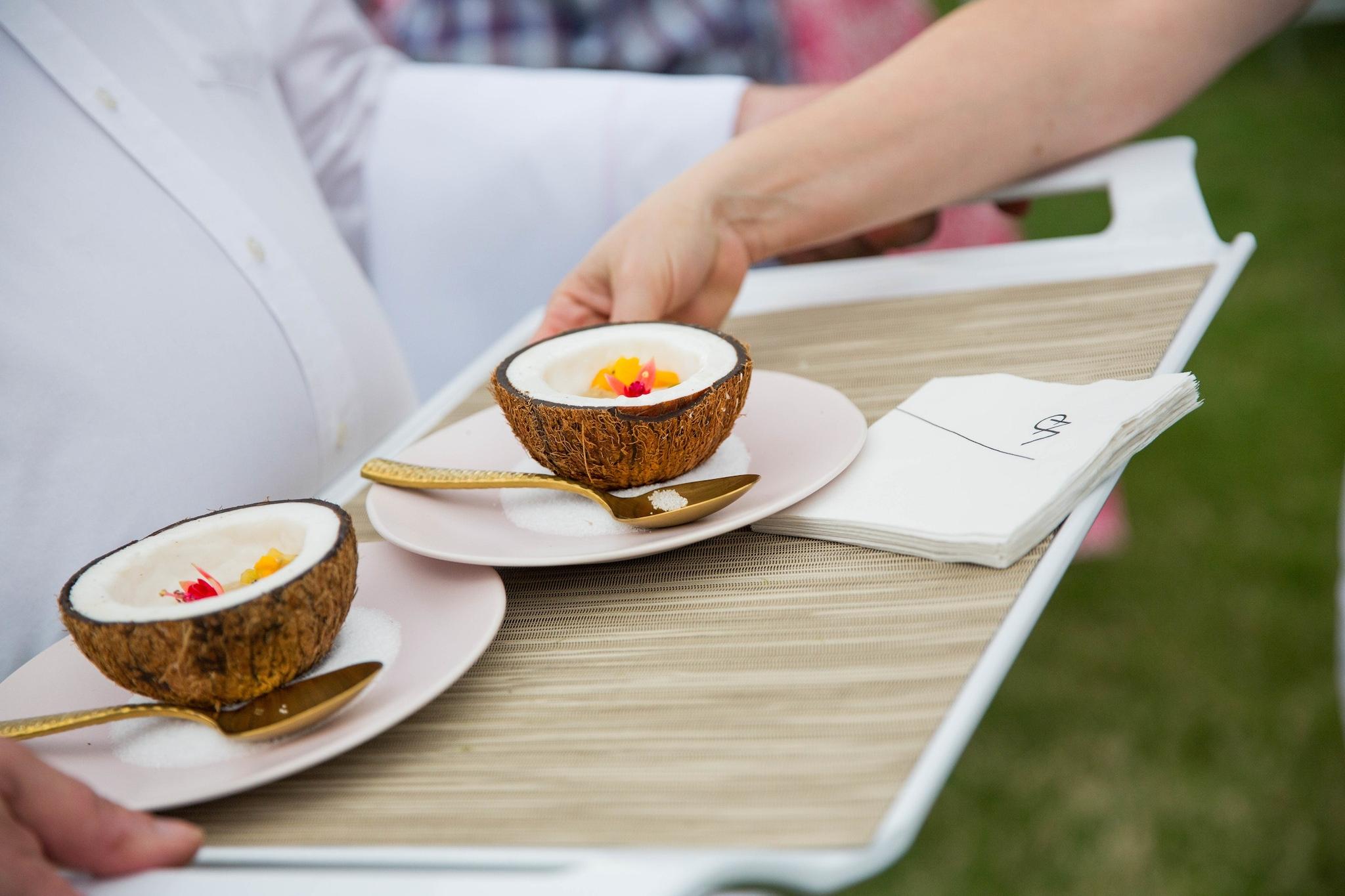 coconut serving platter