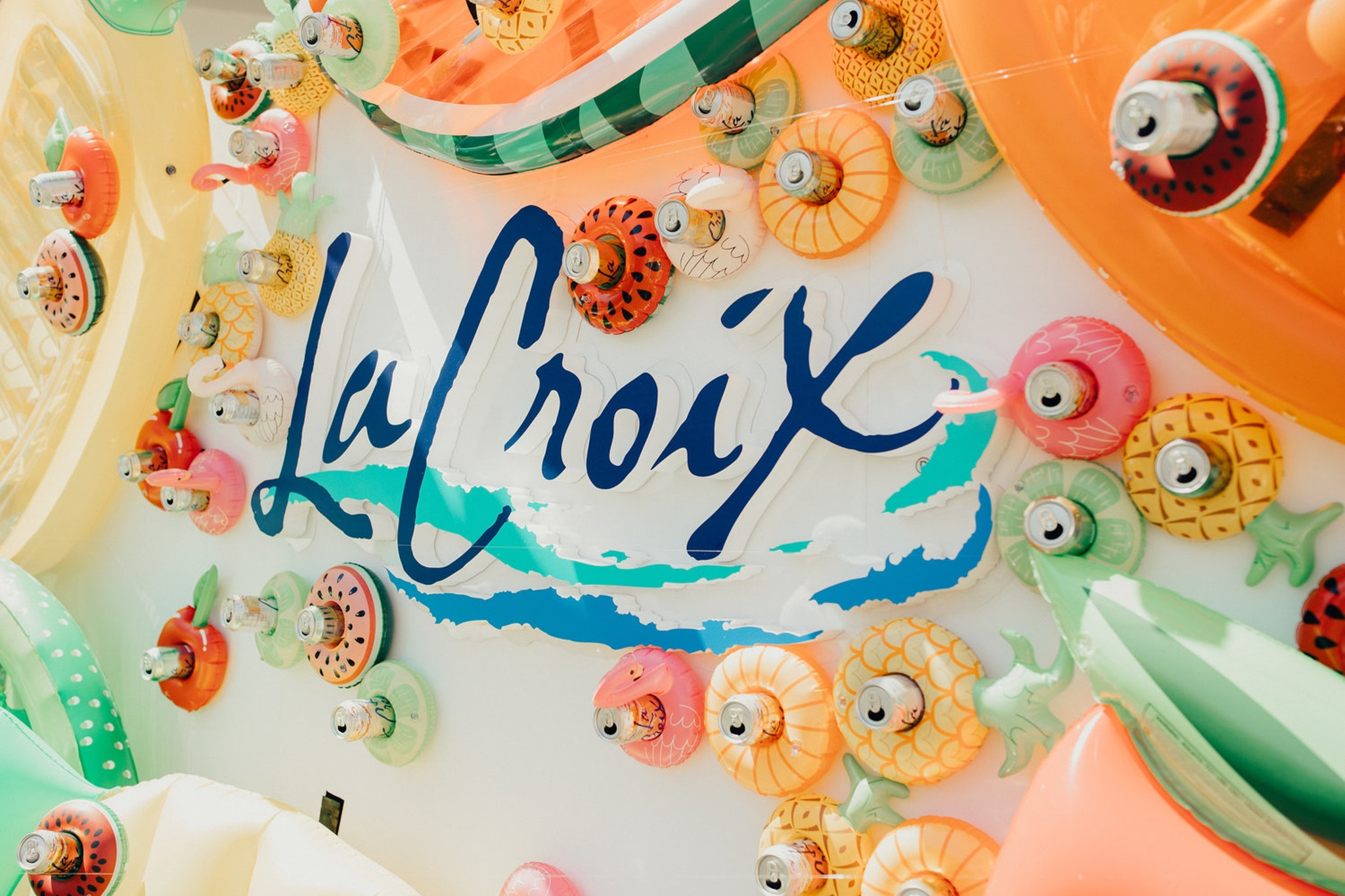 LaCroix photo wall