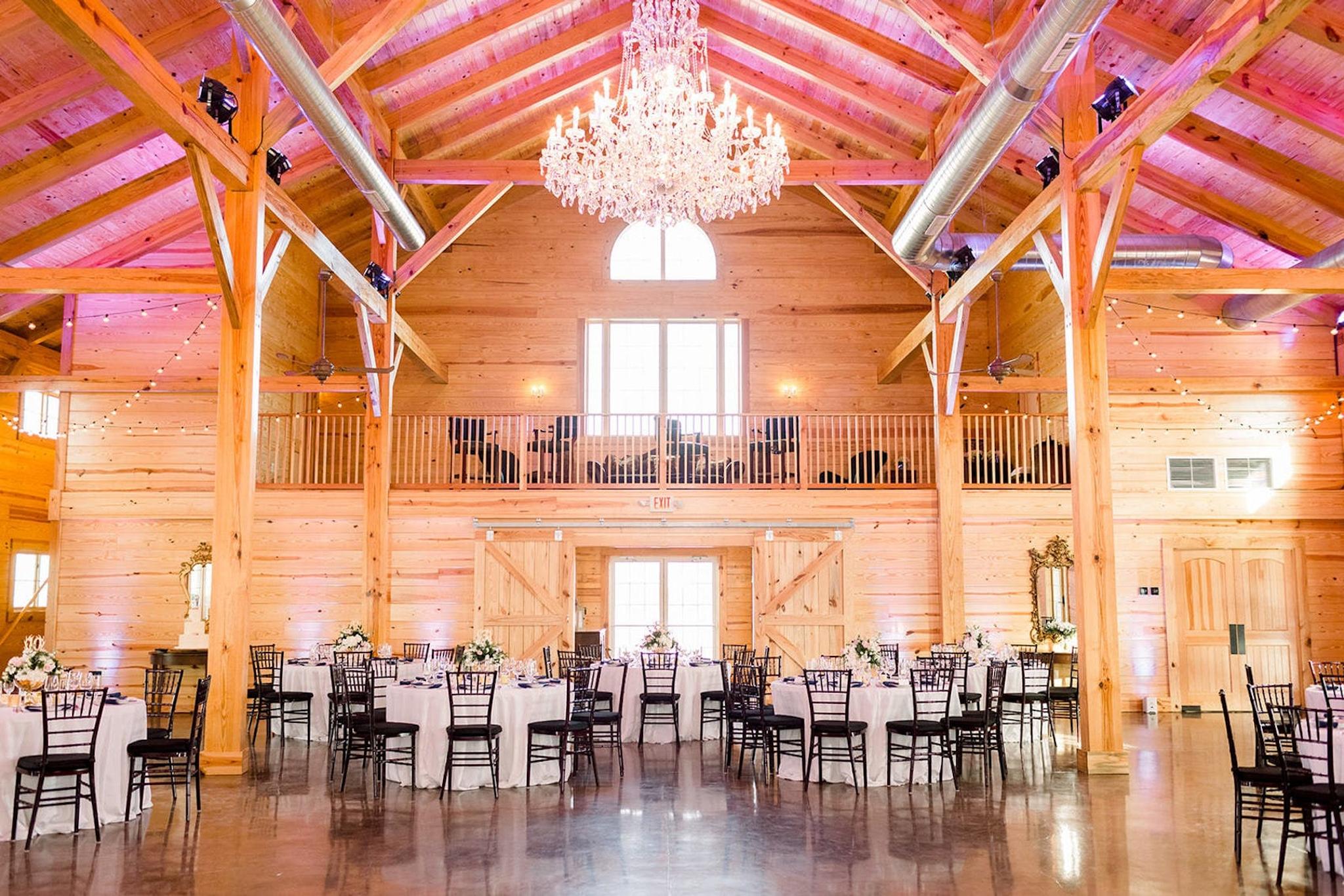 orange hued ballroom