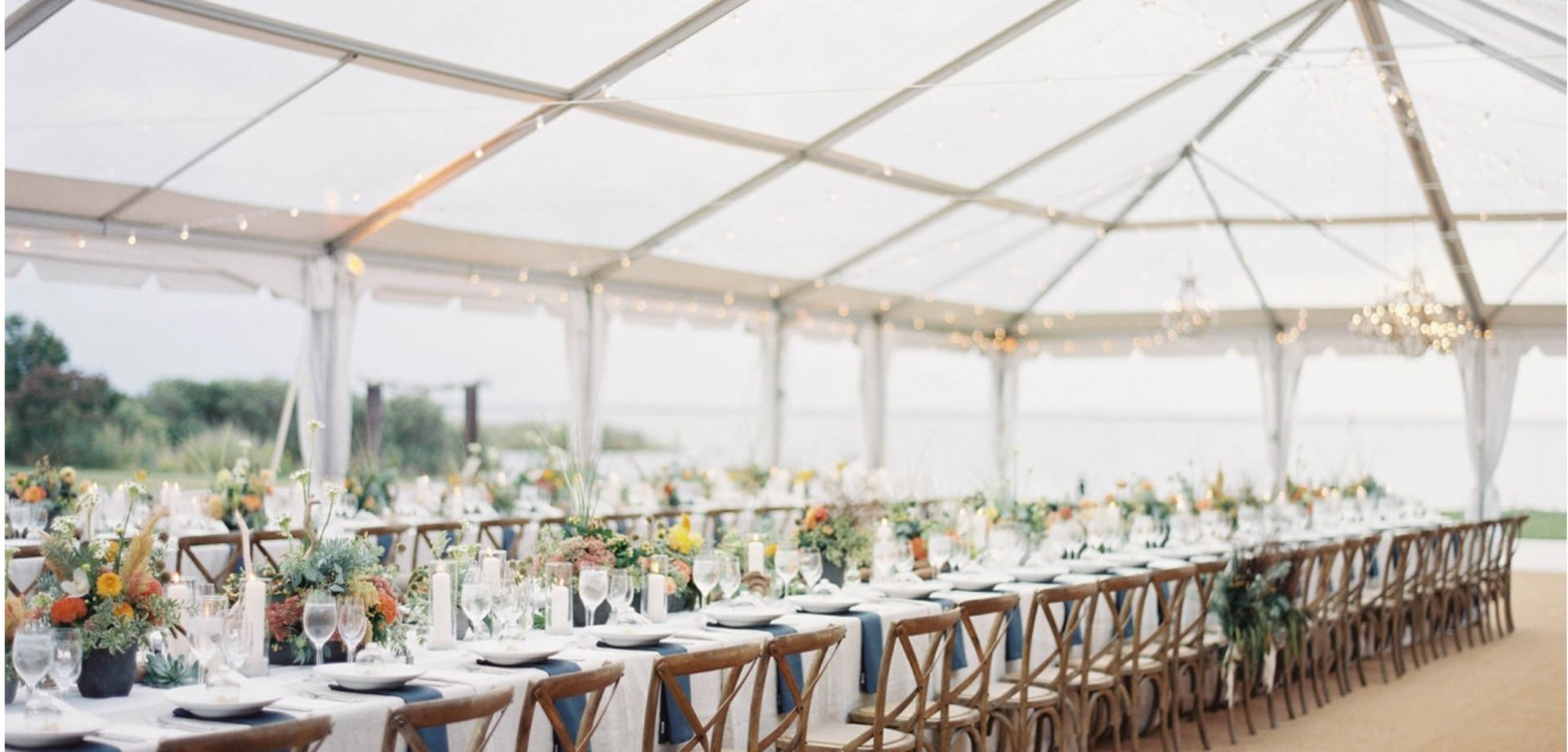 clear banquet tent