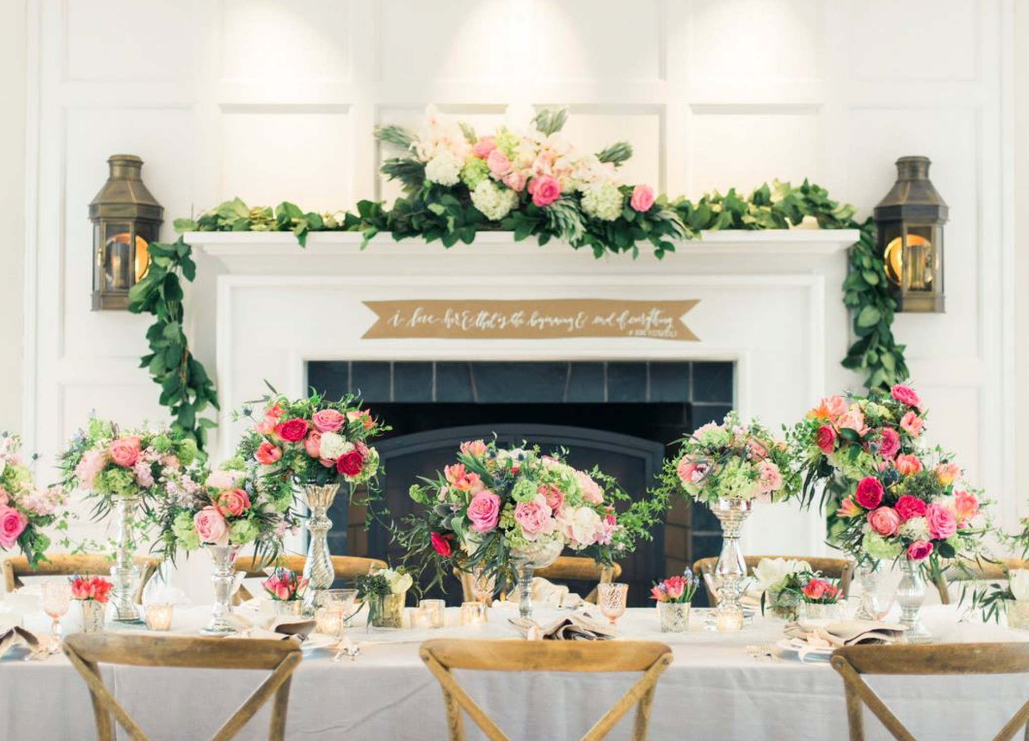 floral decorated table