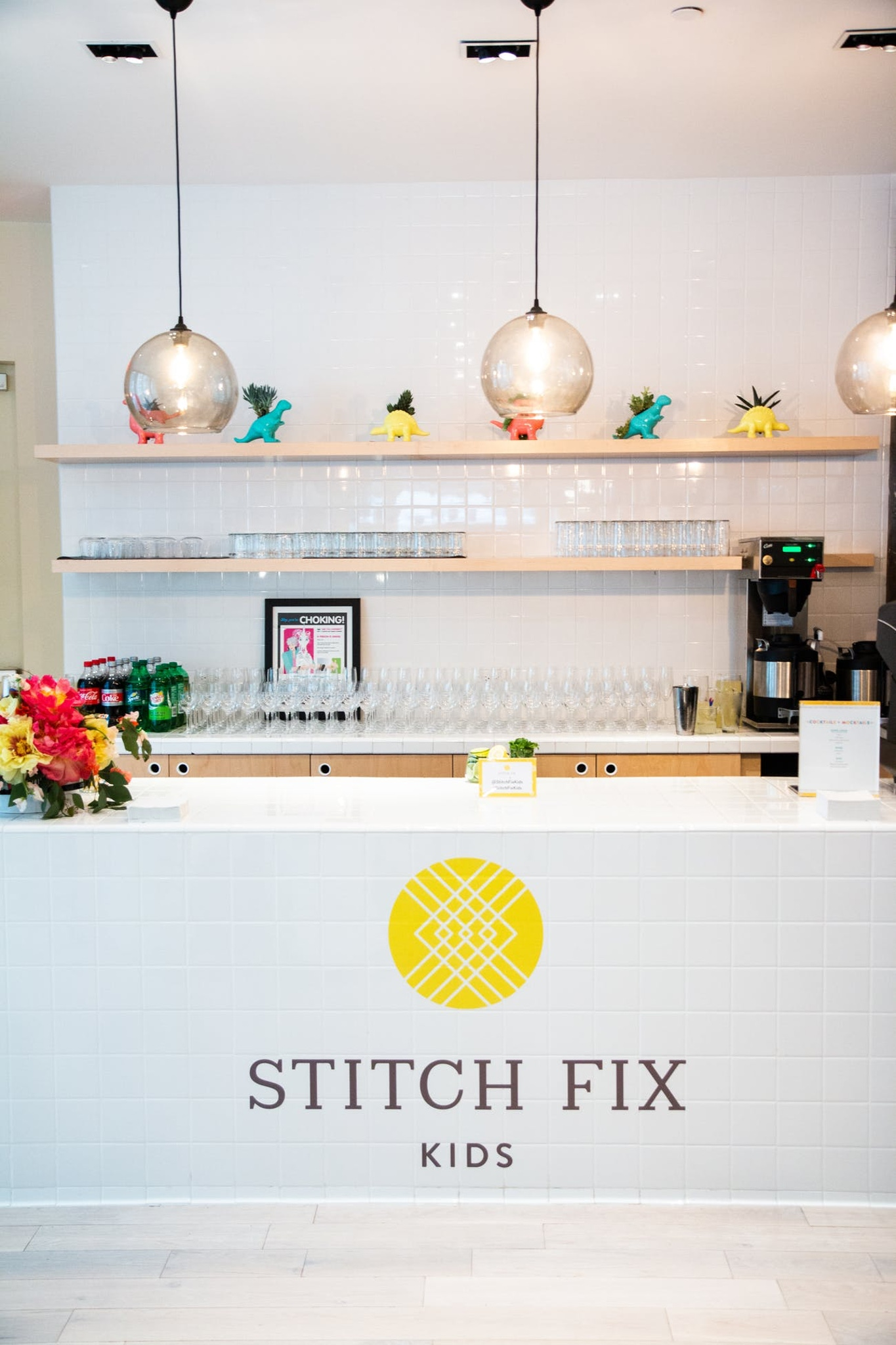 Stitch Fix pajama party event for kids and parents with branded soda bar