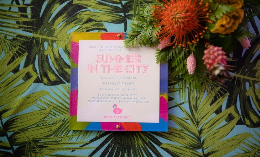 PartySlate Pool-Themed Atlanta Launch Party invitation