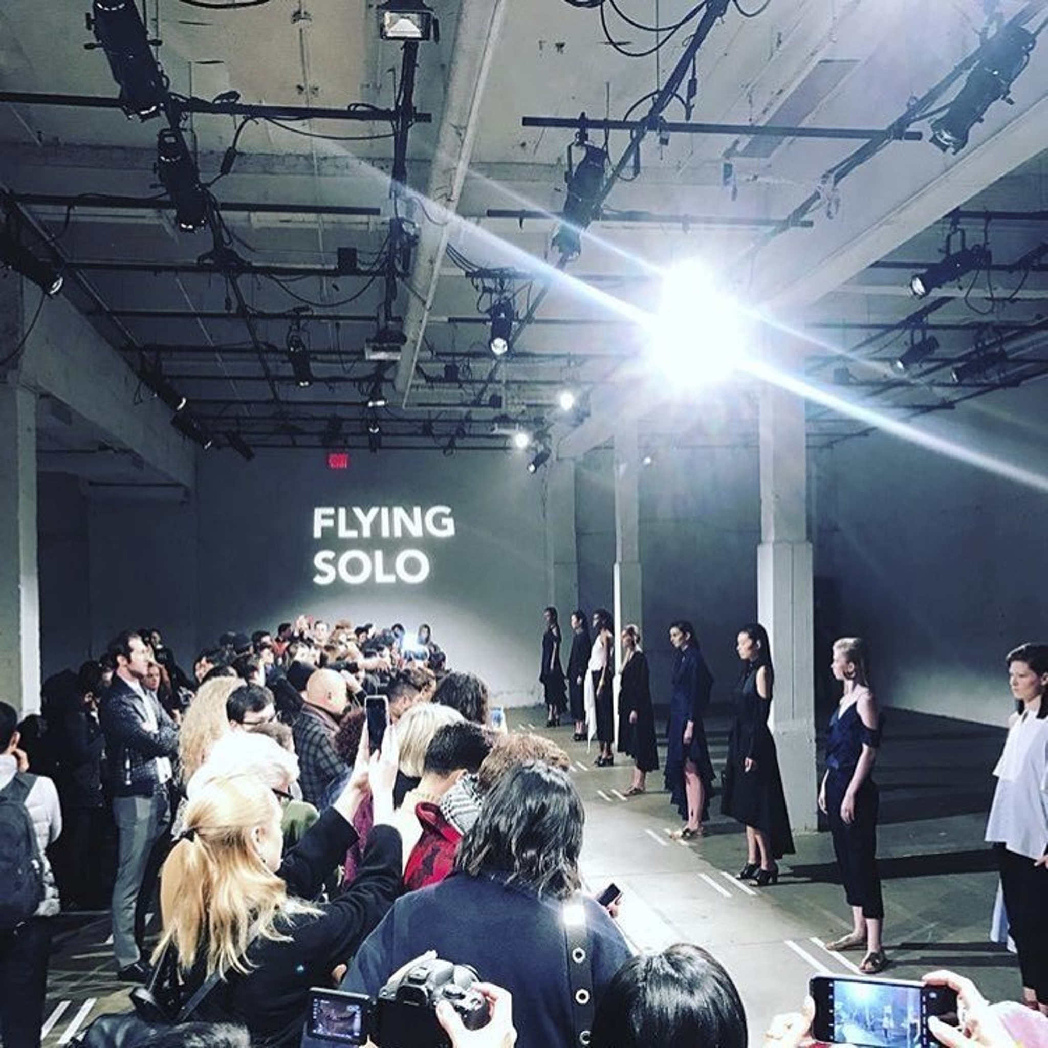 flying solo fashion show