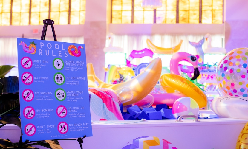 PartySlate Pool-Themed Atlanta Launch Party
