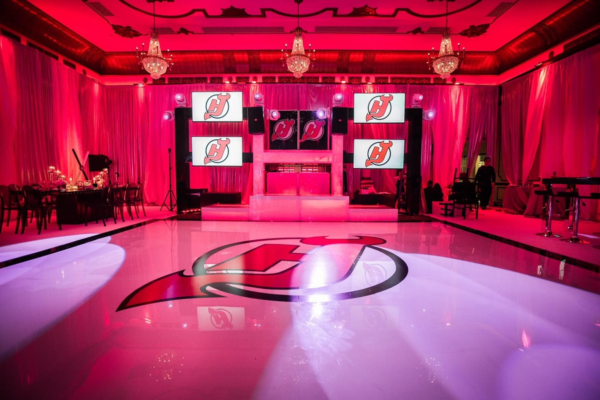 personalized dance floor mitzvah venue