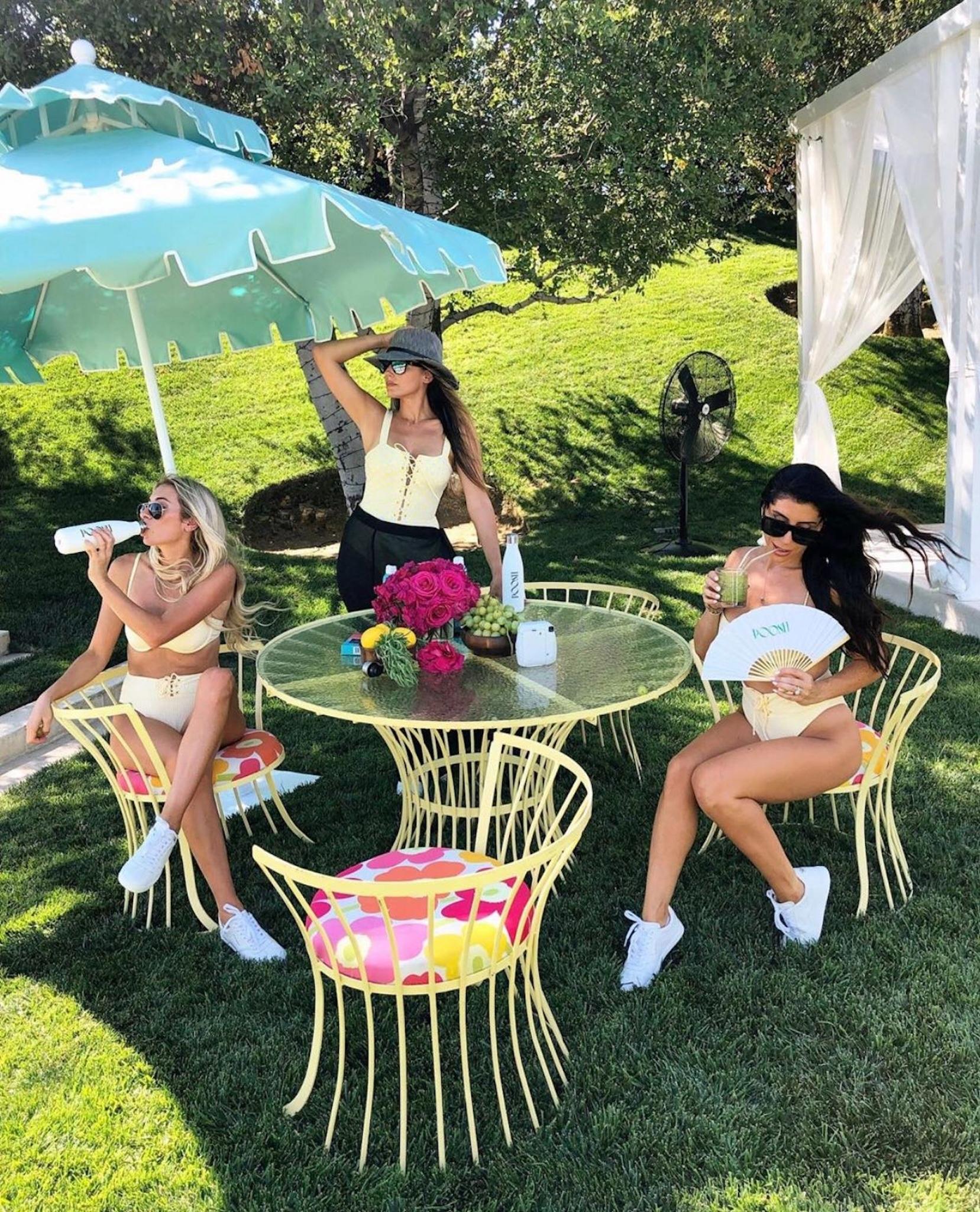 influencers at Kourtney Kardashian Poosh event