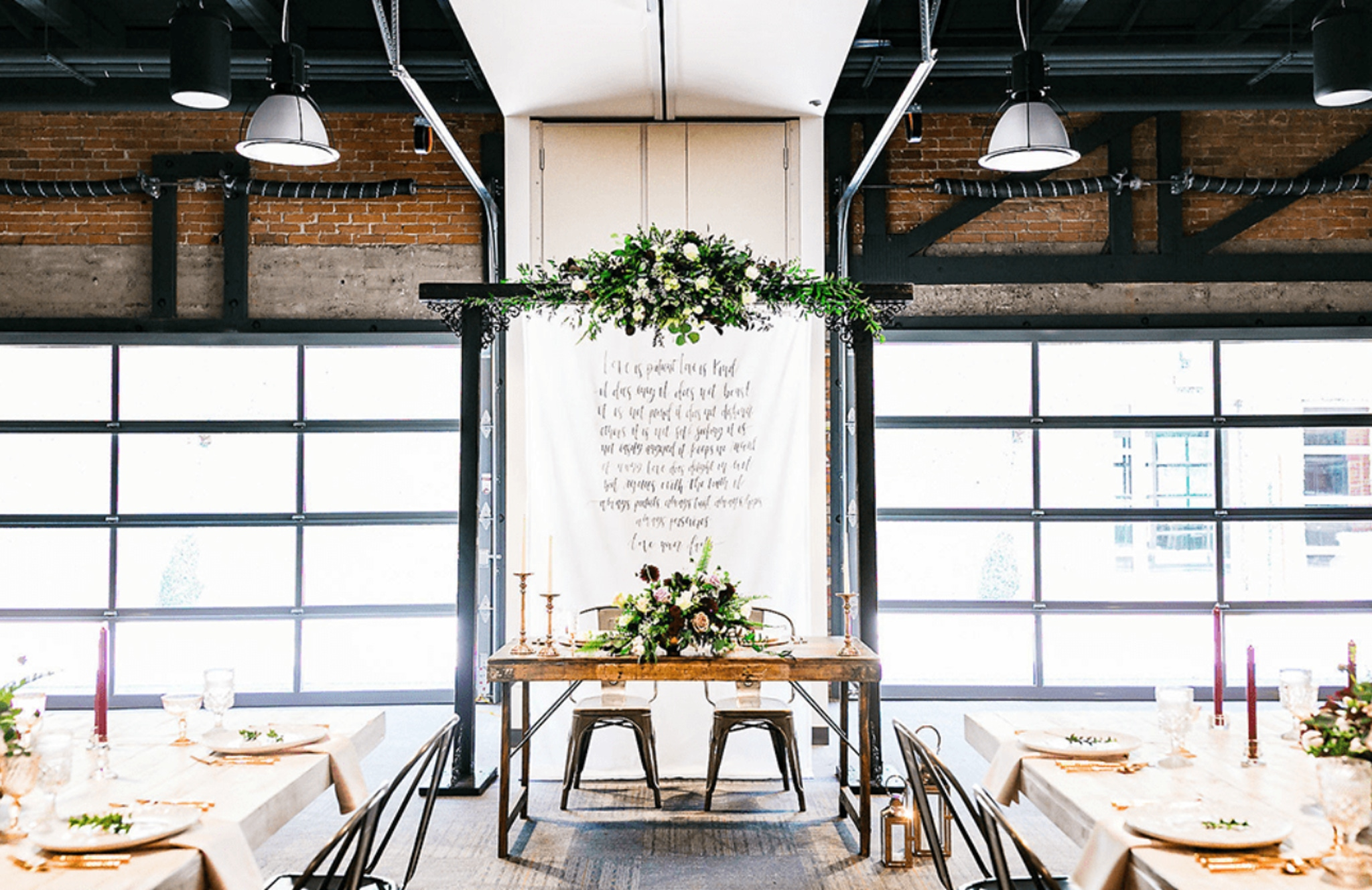 Events on Jackson wedding reception venue with sweatheart table and reception set up