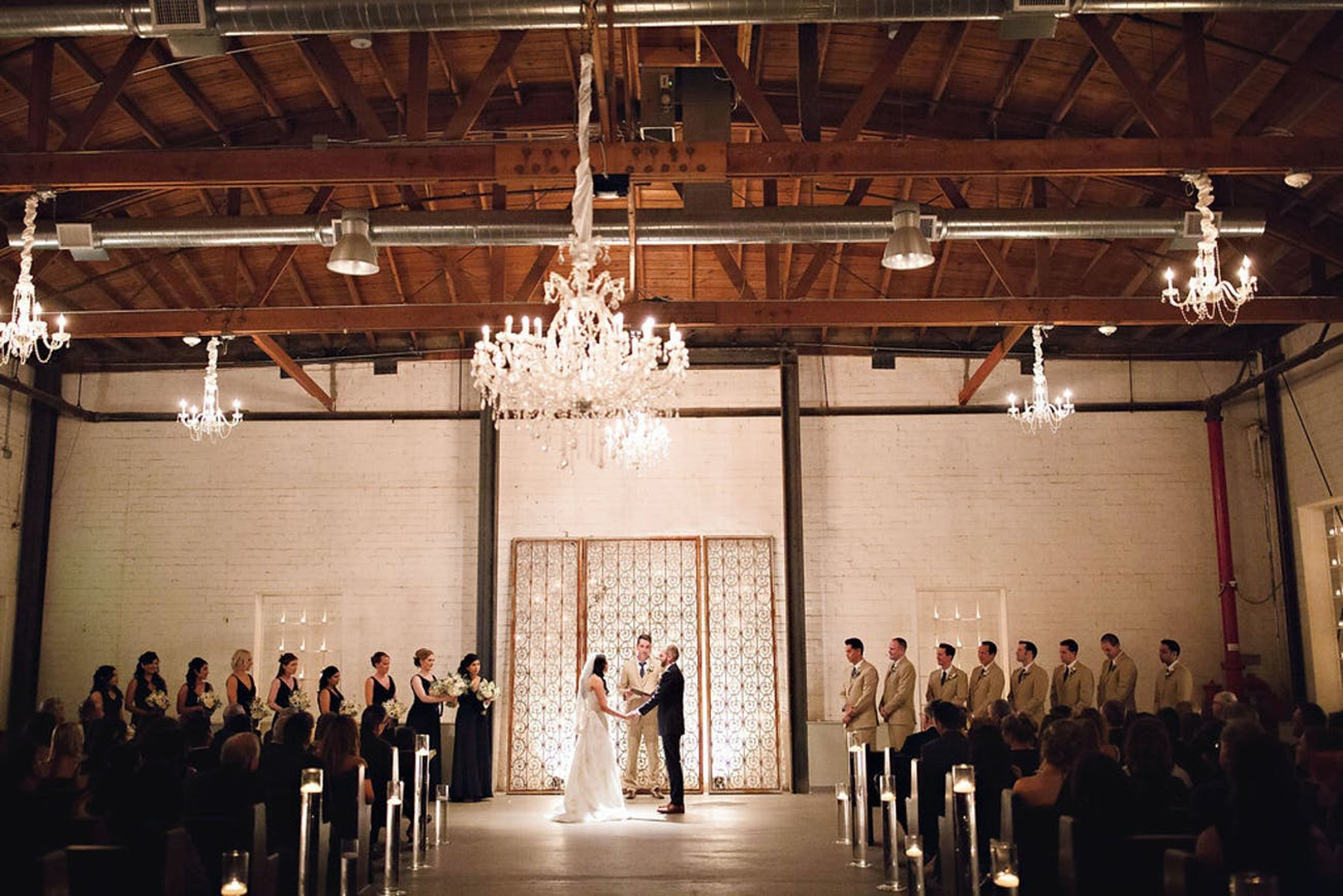 wedding ceremony at the rustic Croft Downtown venue in Phoenix