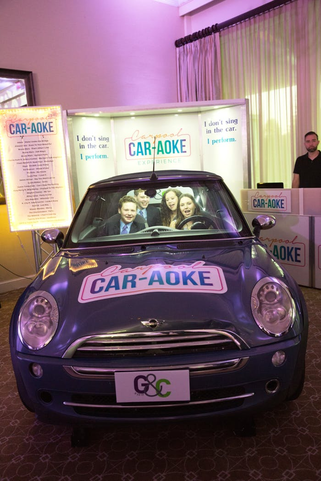 personalized car at mitzvah