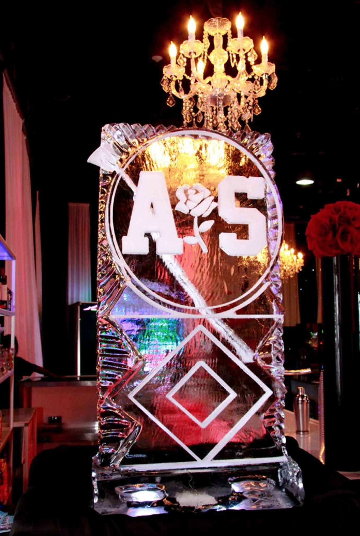 personalized ice sculpture