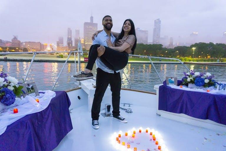 Wedding on Chicago Private Yacht Rentals