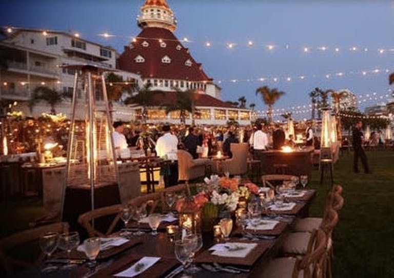 Outdoor Celebration With Twinkling Lights at Hotel del Coronado, Curio Collection by Hilton | PartySlate