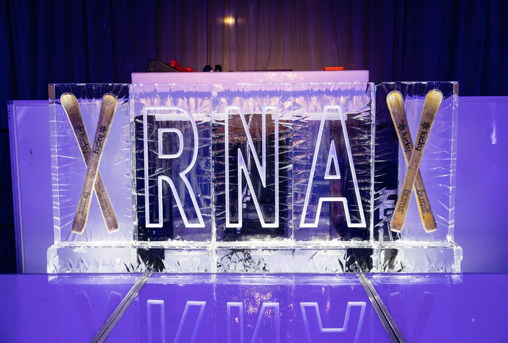 Personalized ice sculpture for RNA | PartySlate